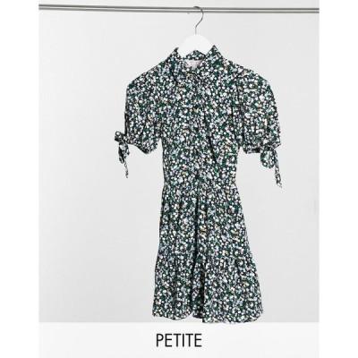 ミスセルフリッジ ミディドレス レディース Miss Selfridge Petite shirt dress in blue floral print エイソス ASOS ブルー 青