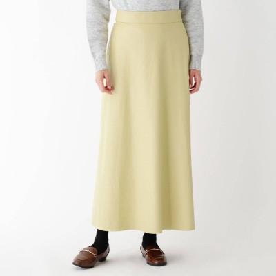 スープ SOUP 【大きいサイズあり・13号】フェイクレザークロスサイドスリットスカート (レモンイエロー)