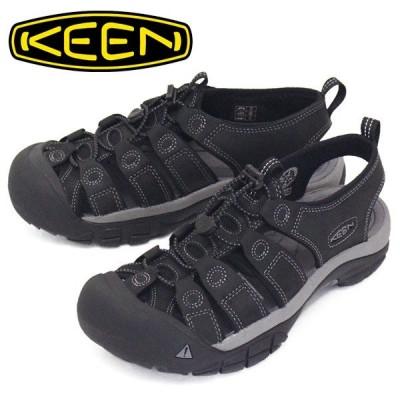 KEEN (キーン) 1022247 Men's NEWPORT ニューポート サンダル BLACK/STEEL GREY KN406