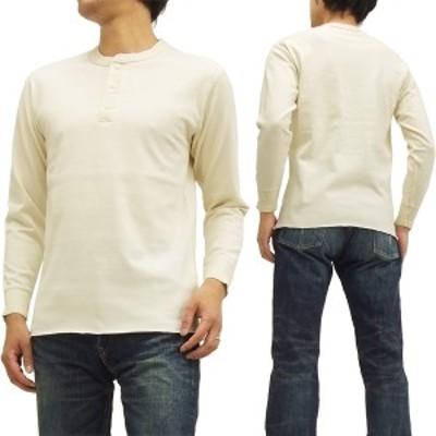 フェローズ ヘンリーネック 長袖Tシャツ PCT2 Pherrow's Pherrows 無地 メンズ ロンtee オートミール 新品