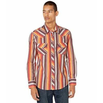 ロックアンドロールカウボーイ シャツ トップス メンズ Dale Brisby Long Sleeve Snap Serape Stripe B2S7092 Red