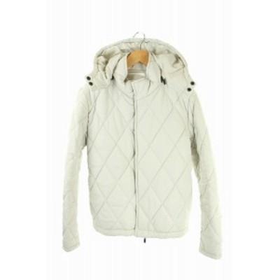 【中古】マンオブムーズ MofM(manofmoods) thinsulate ジャケット 中綿 ジップアップ 1 白 オフホワイト メンズ