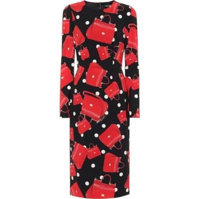 ドルチェ&ガッバーナ Dolce & Gabbana レディース ワンピース ワンピース・ドレス sicily printed stretch silk dress Borsette Fdo. Nero