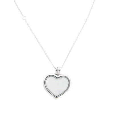 PANDORA Floating Heart Locket, Sapphire Crystal Glass & Clear CZ 59054
