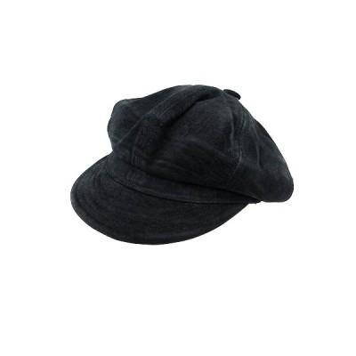 【中古】ニューヨークハット NEW YORK HAT CO. 帽子 キャスケット スエード XL 黒 ブラック /AU レディース 【ベクトル 古着】
