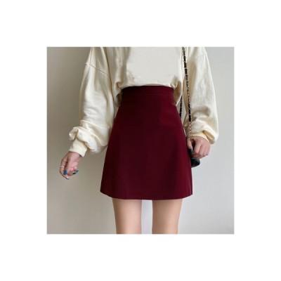 【送料無料】レッド 言葉 スカート 秋冬 女性のスカート 年 ファッション 着やせ | 364331_A64388-2807453