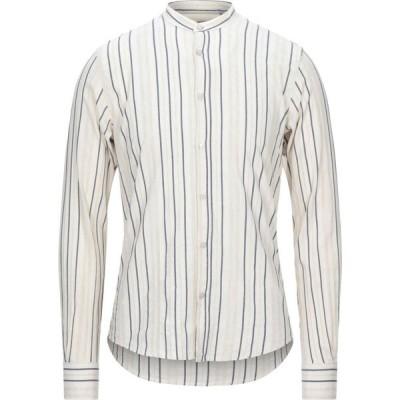 イエスズィー バイ エッセンツァ YES ZEE by ESSENZA メンズ シャツ トップス striped shirt Ivory