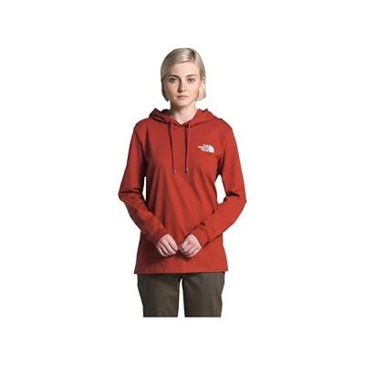 ザ・ノースフェイス Peaceful Explorer Heavyweight Pullover Hoodie レディース パーカー スウェット フード Ketchup Red