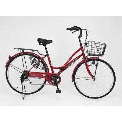 21Technology MC266 ロゼ 折りたたみ自転車(26インチ・6段変速) メーカー直送