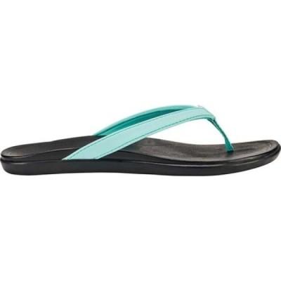 オルカイ OluKai レディース ビーチサンダル シューズ・靴 Ho'opio Flip-Flop Lagoon/Black Synthetic