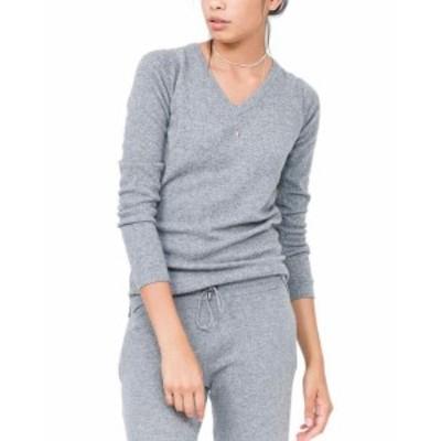 Quinn  ファッション トップス Quinn Essential Cashmere V-Neck Sweater 8
