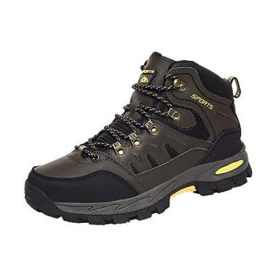 [Kaliter] ハイキングシューズ メンズ レディース トレッキングシューズ 防水 登山靴 ハイカットアウトドア(グリーン 24.5 cm)