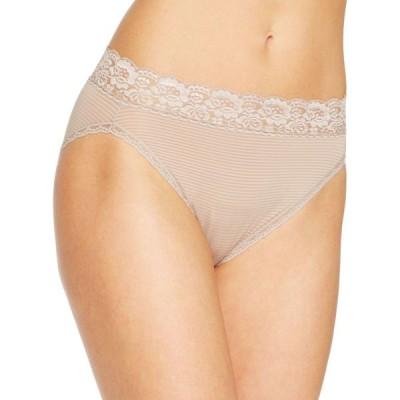 バニティフェア Vanity Fair レディース ショーツのみ Flattering Lace Hi-Cut Panty Underwear 13280, extended sizes available Toasted Coconut- Nude