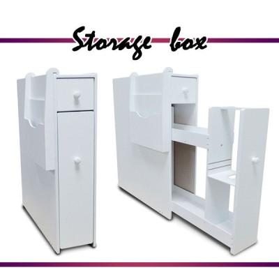 収納ボックス すきま家具 すきま収納 17cm幅 50cm奥行 60cm高さ サニタリーボックス トイレラック トイレ収納 収納 家具 白 ホワイト 18820wh