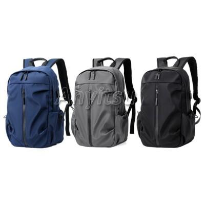 メンズバックパックカジュアルデイパック耐水走行ハイキングキャンプバックパック多目的15.6インチノートパソコンのバックパック.3色-ブラック/グレー/ブルー