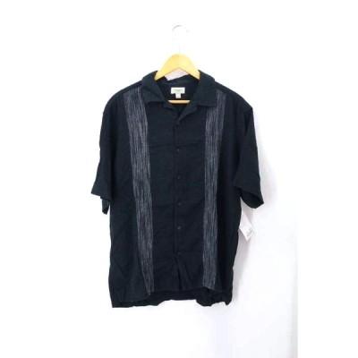 HAGGER リネンレーヨンオープンカラーシャツ メンズ L 中古 210319