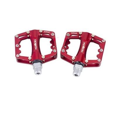 lundeng Wellgo Alloy Magnesium BMX Mountain Bike Road Bike Pedals KCF01AC (red) 並行輸入品