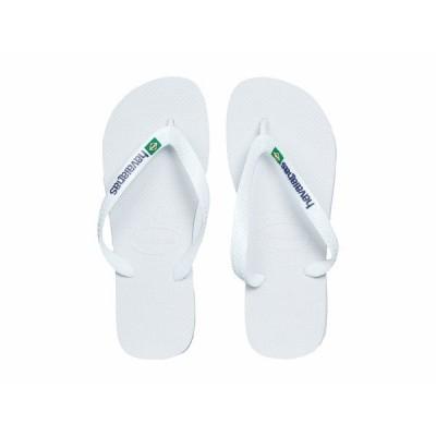 ハワイアナス サンダル シューズ レディース Brasil Logo Unisex Flip Flops White