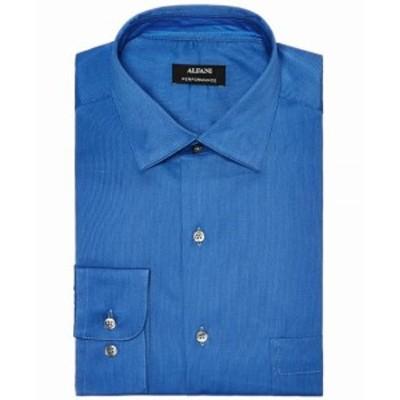 Alfani  ファッション ドレス Alfani NEW Blue Mens Size XL Performance Micro Stripe Dress Shirt