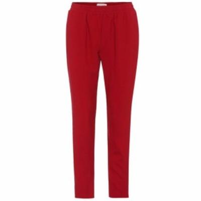 マンサーガブリエル Mansur Gavriel レディース ボトムス・パンツ Crepe trousers Red