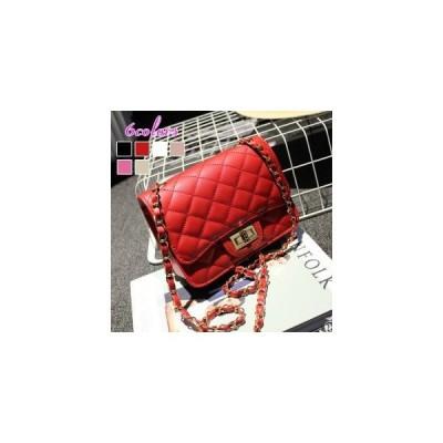 ポシェット 上質PU ショルダーバッグ 革バック 斜め掛け カバン 鞄 菱形 小物入れ カジュアル オシャレ 6色 カラー チェーンバッグ 菱格柄 小さい