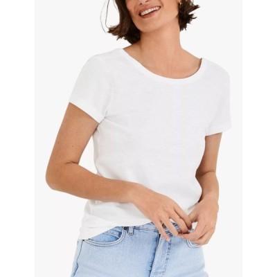 ハッシュ シャツ レディース トップス hush Scoop Back Cotton T-Shirt