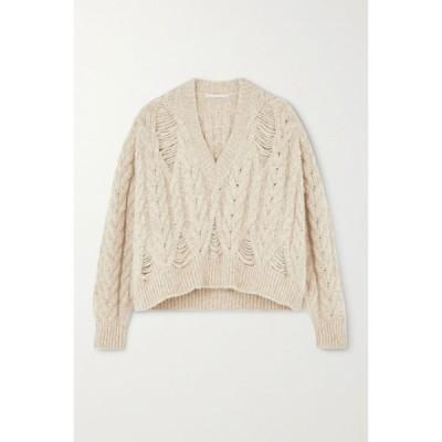 ステラ マッカートニー Stella McCartney レディース ニット・セーター トップス distressed cable-knit alpaca-blend sweater