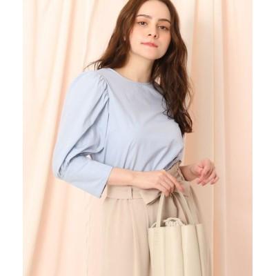 Couture Brooch/クチュールブローチ 【洗える】ボリュームパフスリーブシャツ サックス(090) 38(M)