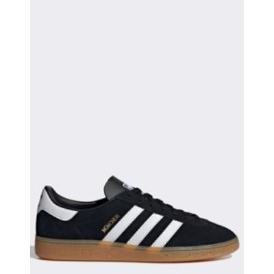 アディダス メンズ スニーカー シューズ adidas Originals Munchen sneakers in black Black