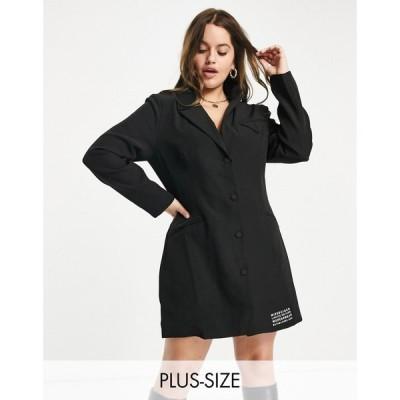 ミスガイデッド Missguided Plus レディース ワンピース ブレザードレス ワンピース・ドレス Tailored Blazer Dress In Black ブラック