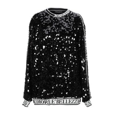 ドルチェ & ガッバーナ DOLCE & GABBANA スウェットシャツ ブラック 36 ポリエステル 100% / シルク / ポリウレタン ス