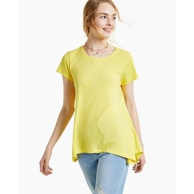 スタイルアンドコー カットソー トップス レディース Burnout Handkerchief-Hem T-Shirt, Created for Macy's Daisy Daze