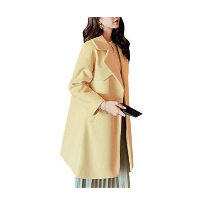 [スカイシイ] チェスターコート コート ロング 防寒 襟付き きれいめ お洒落 ロング丈 おしゃれ 韓国 韓国コート 通勤 防風 暖かい ゆったり