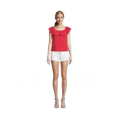 BB Dakota ビービーダコタ レディース 女性用 ファッション ブラウス Textured Rib Knit Ruffle Tank - Light Heather Grey