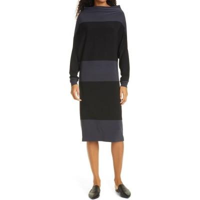 ノーマ カマリ NORMA KAMALI レディース ワンピース ワンピース・ドレス Spliced All In One Long Sleeve Dress Pewter/Black