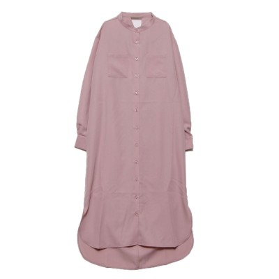 スタイルブロック STYLEBLOCK バックツイストポケット付きシャツワンピース (ピンク)