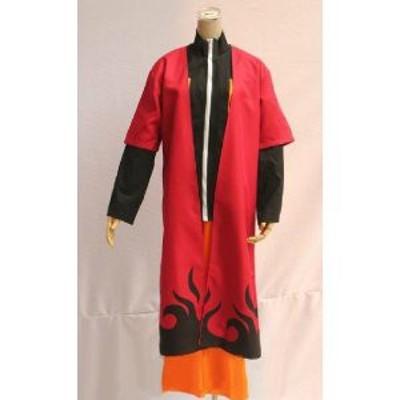 DK2277 コスプレ衣装   NARUTO -ナルト- 疾風伝 ナルト風 衣装 セット  衣装+マント   コスチューム