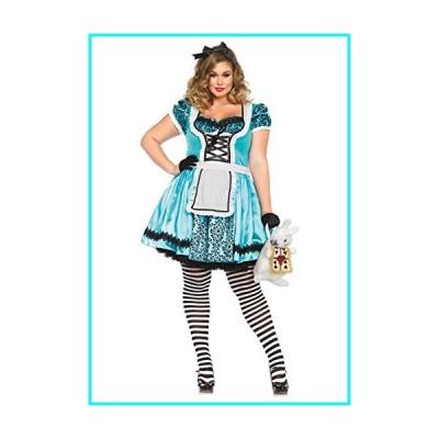 新品・未使用LEG AVENUE(レッグアベニュー)? Looking Glass Alice ドレス ヘッドセット 3X /4X ブルー /ブラック 85372X並行