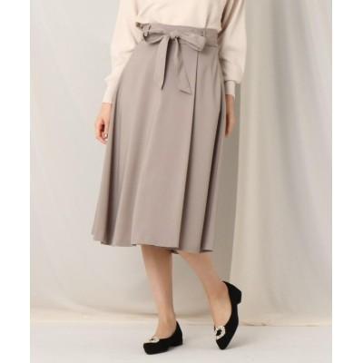 【クチュールブローチ】 ウエストリボンラップ風フレアスカート レディース タバコブラウン 36(S) Couture Brooch
