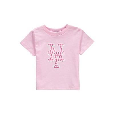 野球 MLB ソフト アズ ア グレープ Soft as a Grape New York Mets Toddler Girls Pink Polka Dot Logo T-Shirt