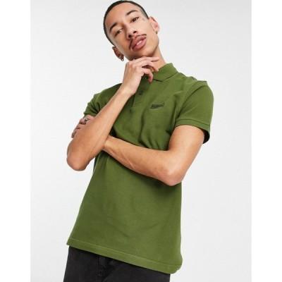 バブアー Barbour International メンズ ポロシャツ トップス Essential polo in green グリーン