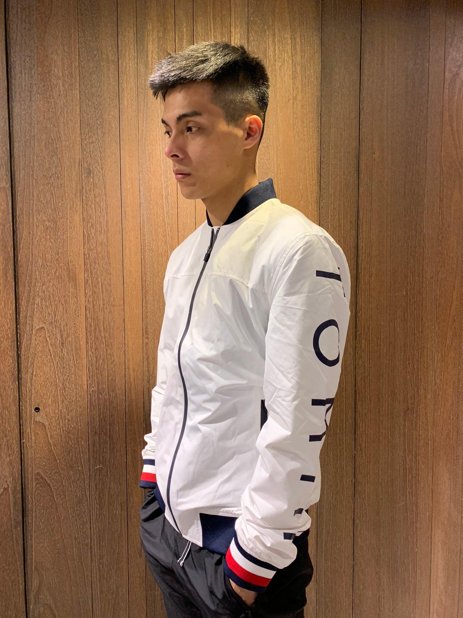 美國百分百【全新真品】 Tommy Hilfiger 立領外套 棉外套 棉質 外套 夾克 TH logo 男 AO96