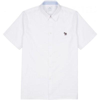 ポールスミス PS by Paul Smith メンズ シャツ トップス white cotton shirt White