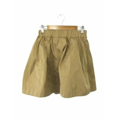 【中古】スタニングルアー STUNNING LURE スカート フレア ひざ丈 0 茶 ブラウン /RK6 レディース