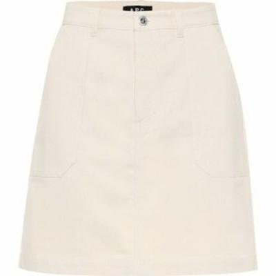 アーペーセー A.P.C. レディース ミニスカート スカート Lea denim miniskirt Ecru
