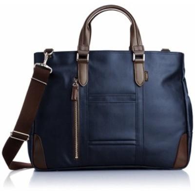 【人気商品】【日本製】【EVERWIN】ビジネスバッグ メンズ レディース 革付属 軽量【ビジネス】 -- ブルー(革付属)豊岡製