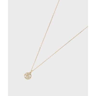 ネックレス K18ダイヤモンド ランダムパヴェ ラウンドネックレス