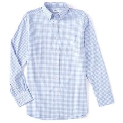 サウザーンタイド メンズ シャツ トップス Intercoastal Montefuma Gingham Performance Stretch Long-Sleeve Woven Shirt