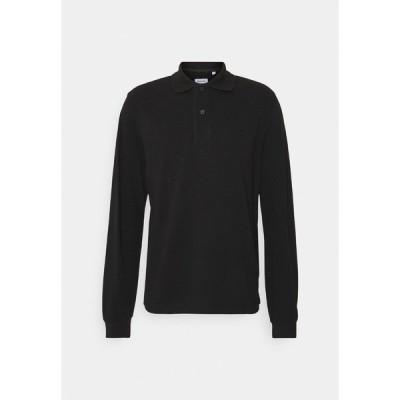 サイデンステッカー ポロシャツ メンズ トップス LONGSLEEVE - Polo shirt - black