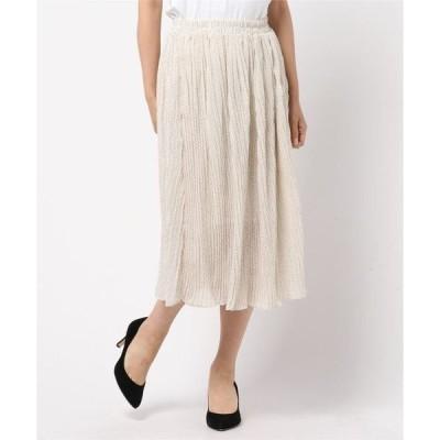 スカート [ドット柄/小花柄]ロング丈プリーツスカート